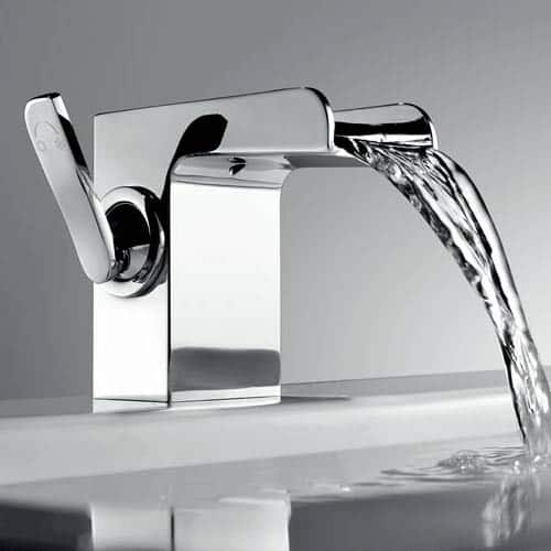 Noir Pas de z/éro Design r/étro Pour eau chaude et froide Noir mat Robinet de lavabo en acier inoxydable avec poign/ée unique pour /évier s