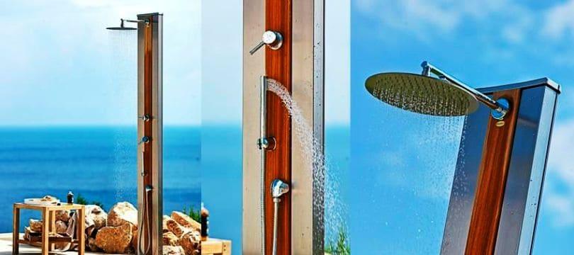 Giordano toute la douche solaire avec robinet mon robinet for Socle douche exterieure