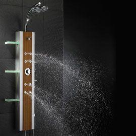 Choisir sa colonne de douche design pas cher mon robinet - Colonne de douche bois ...