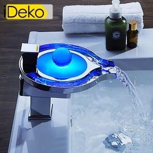 Le robinet lumineux led s 39 invite chez vous mon robinet - Marque robinet salle de bain ...